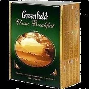 Чай Гринфилд зеленый 100 пак