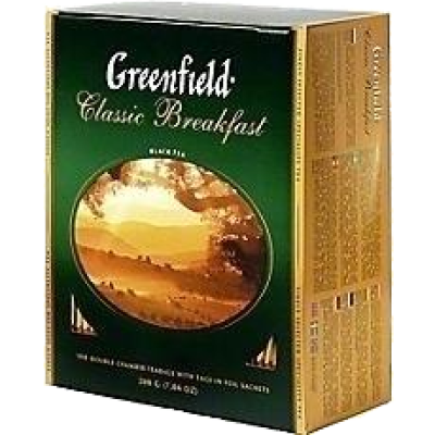 Купить Чай Гринфилд зеленый 100 пак